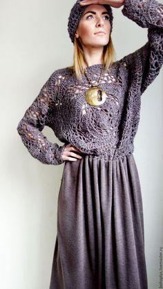 Crochet Coat, Crochet Blouse, Crochet Clothes, Knit Fashion, Boho Fashion, Fashion Looks, Fashion Outfits, Bohemian Mode, Summer Knitting