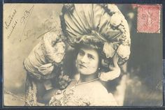 QL106 ARTIST STAGE STAR LUCY NANON LARGE HAT Tinted PHOTO pc