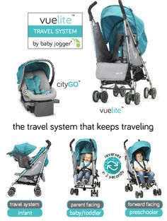 2015 Baby Jogger Vue Lite Travel System #stroller #baby