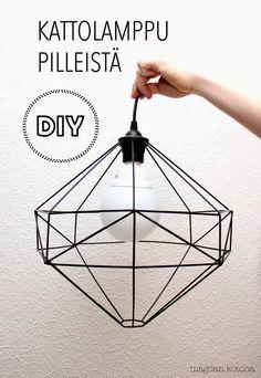 Diy Crafts Ideas Magdan kotona: Diy uusi lamppu + ohje -Read More – Diy Abat Jour, Luminaria Diy, Diy Straw, Lampe Decoration, Diy Pendant Light, Pendant Lamp, Diy Interior, Home And Deco, Diy Projects To Try