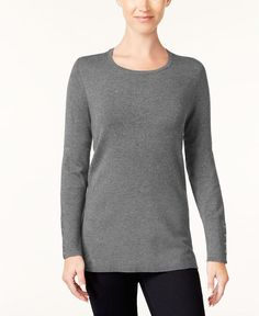 85b276d03e JM Collection 7178 Size XXL Womens NEW Grey Textured Scoop Neck Sweater  49   fashion