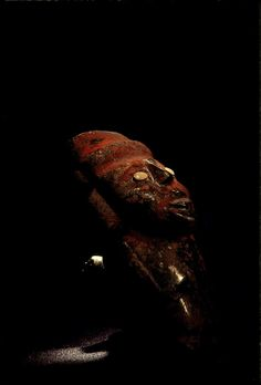 carved stone figurine with inlay and red paint, Tenochtitlan, Templo Mayor, Aztec, Mexico, Mexico City, Great Temple of the Aztecs