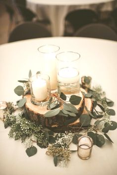 budget friendly greenery wedding centerpieces colors for wedding part 3 modern inspiration at a rustic wedding venue Romantic Wedding Centerpieces, Wedding Bouquets, Wedding Flowers, Wedding Decorations, Table Wedding, Wedding Greenery, Wedding Colors, Wedding Ideas Candles, Table Centerpiece Wedding