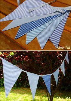 Banderolas de diferentes telas y colores. Para decorar rincones especiales, habitaciones infantiles...