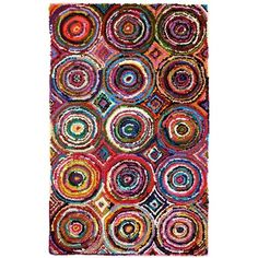 Recycled Cotton Tangier Rugs  LOVE this pattern and the colors!