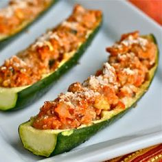 e is for eat: Q is for: Quinoa & Ground Turkey Zucchini Boats