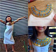 costume Halloween enfant pour petite fille - inspirez-vous de la reine d'Égypte Cléopâtre