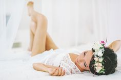 Flower crown boudoir session | Maria Levitska Photography | see more on: http://burnettsboards.com/2015/01/adorable-russian-wedding/