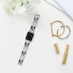 Now you can get the most #adorable watch #dog for your #applewatch :) With this cute #watchband that features #frenchies in black and white