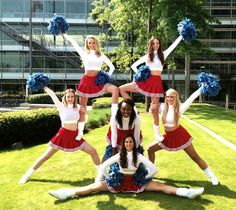 cheerleading stunting Book Zoo and make your event stand-out - we are a booking agent for Zoo. Zoo are sensational Cheerleaders, find out more about hiring Zoo & our award-winning service Easy Cheer Stunts, Cheer Moves, Cheer Routines, Cheerleading Workouts, Cheerleading Cheers, School Cheerleading, Cheer Workouts, Cheer Camp, Cheerleading Pictures