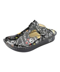 Take a look at this Black Peace & Love Mule - Women by Alegria on #zulily today!