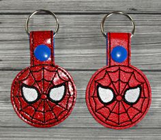 Spidey Keychain ITH Embroidery Design | Uncle Matt's Crib