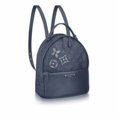 Louis Vuitton Marine Metal Monogram Empreinte with Pins Sorbonne Backpack Bag