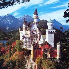 Ludwig II, King of Bavaria, Germany, completed the construction of Neuschwanstein Castle (Schloss Neuschwanstein) in 1892. Although originally built as a retreat for the King and an homage to composer Richard Wagner, the castle is also the inspiraition for Disneyland