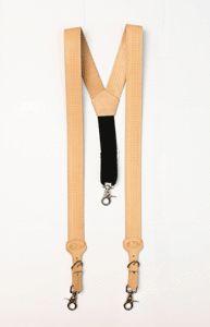 Nocona Basketweave Tooled Leather Suspenders Galluses | eBay