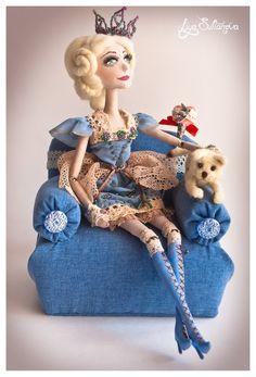Meilin. OOAK cloth doll.