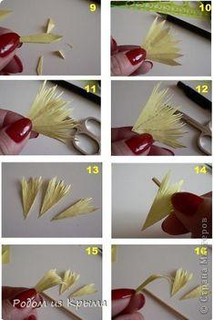 Хризантема. Цветы из бумаги. Мастер-класс