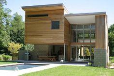 Nice use of wood integration | Berg Design Architecture | East Hampton, NY