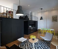 Gorgeous kitchen and dining space take up little area