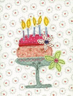 Designing unique and colourful cards. Freehand Machine Embroidery, Free Motion Embroidery, Machine Embroidery Applique, Hand Embroidery Designs, Free Motion Quilting, Applique Designs, Fabric Postcards, Fabric Cards, Card Making Inspiration