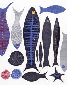 Artist Textiles: Picasso to Warhol * Design Catwalk Textile Museum, Art Textile, Textile Artists, Illustrations, Illustration Art, Fabric Fish, Art Grants, Fish Print, Fish Design