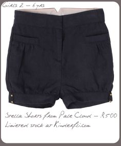 Stella Shorts from Pale Cloud at Kinderfli.com Cloud, Casual Shorts, Kids Fashion, Short Dresses, Children, Women, Short Gowns, Young Children, Boys