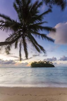 size: Photographic Print: Sunrise over Small Islet, Rarotonga, Cook Islands by Matteo Colombo : Rarotonga Cook Islands, Framed Artwork, Find Art, Cool Pictures, Sunrise, Australia, Beach, Water, Outdoor