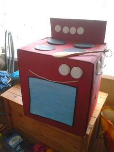 Cardboard Box Kitchen Cooker