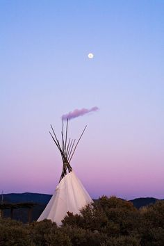 Moonrise over TeePee - Taos, New Mexico