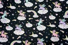 Unicorn fabric Rainbow and ...