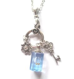 Mustard Seed necklace Blue mustard seed charm by ForgotMeNot, $25.00