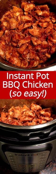 This Instant Pot BBQ Chicken recipe is my go-to weeknight dinner! So easy to mak… This Instant Pot BBQ Chicken recipe is my go-to weeknight dinner! So easy to make and so yummy! Everyone loves this Instant Pot barbecue chicken! Crockpot Recipes, Chicken Recipes, Cooking Recipes, Ninja Recipes, Smoker Recipes, Rib Recipes, Recipe Chicken, Easy Recipes, Instant Pot Pressure Cooker