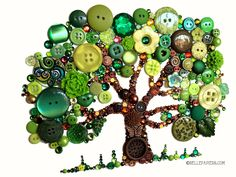 11x14 Button Tree of Life Button Art with by BellePapiers on Etsy, $329.00