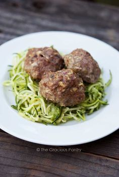 Clean Eating Low Carb Easy Bake Meatballs | 5oz. ground turkey, 1/2T. onion soup mix, 1/4 egg | Knead ingredients and form golf ball sized meatballs (about 5); lay in greased glass dish and bake @ 350 for 40 minutes (meat thermometer should read 165 degrees F); Serve with veggie noodles and sauce.