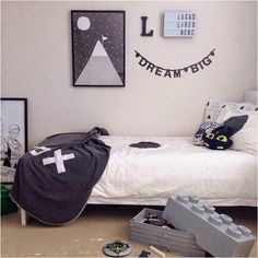 mommo design: GREY KID'S ROOMS