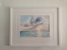 Watercolour sunrise, 24x32cm. So calm