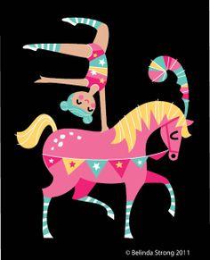 This is my Babycakes.  Acrobat on horseback