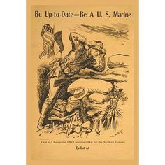 Buyenlarge 'Be Up-to-date - Be a US Marine' by William Allen Rogers Vintage Advertisement Size: