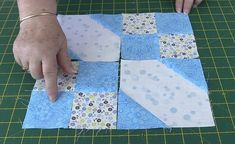 "This quilt pattern looks really gorgeous. This is a simple, modern and elegant ""Hip to be Square"" quilt pattern that you can get for free. Strip Quilts, Patch Quilt, Easy Quilts, Scrappy Quilts, Quilting For Beginners, Quilting Tips, Quilting Tutorials, Quilting Projects, Quilt Block Patterns"