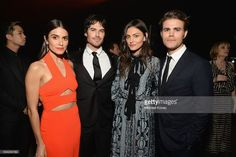 Ian Somerhalder & Nikki Reed Double Date in 'Heaven' with Paul Wesley & Phoebe Tonkin! Nikki Reed, Ian Somerhalder, Phoebe Tonkin, and Paul Wesley get together for a photo inside of the 2016 Art of Elysium Heaven Gala held at on Saturday (January… Paul And Phoebe, Paul Wesley Phoebe Tonkin, Ian Somerhalder Nikki Reed, Ian Somerhalder Vampire Diaries, Vampire Diaries Cast, Vampire Diaries The Originals, Kai, Ian And Nikki, Netflix