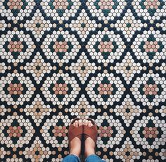beautifully patterned / flowered tiles