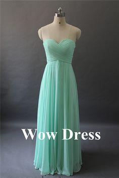 LYNDSAY! Mint Bridesmaid Dress/ Long Bridesmaid Dress/ by WowDress on Etsy, $78.00