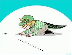 Curious Dino man