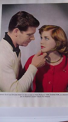 STEPHEN BOYD -DOLORES HART Photo THE INSPECTOR 1961