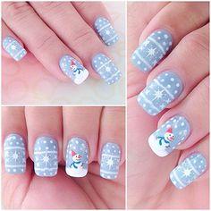 Winter Nails Designs - My Cool Nail Designs Holiday Nail Art, Christmas Nail Art Designs, Winter Nail Art, Winter Nails, Fancy Nails, Pretty Nails, Cute Nails, Xmas Nails, Christmas Nails