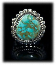 Pure beauty Stormy Mountain Turquoise Ring available now on eBay!