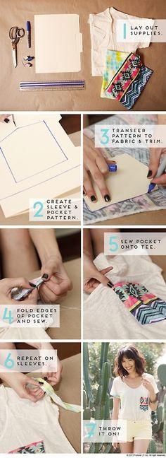 DIY Files- Hint Of Print Pocket Tee x