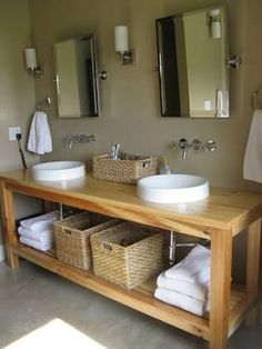 homemade bathroom vanity - Google Search