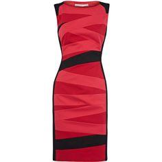Colour block stripe dress ($270) via Polyvore