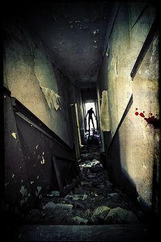 zombie in the door